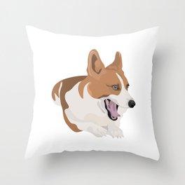 Bobo the Corgi Throw Pillow