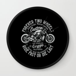 Bobber Motorcycles Wall Clock