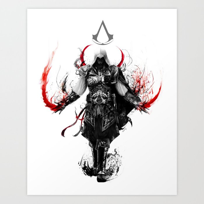 Assassin S Creed Ezio Art Print By Ururuty Society6