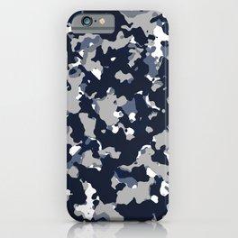 Blue Grey Camouflage iPhone Case
