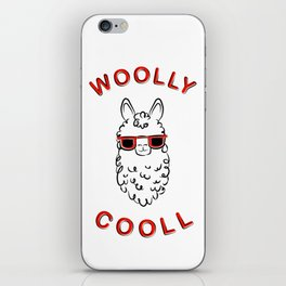 Woolly Cooll Cute Llama Pun iPhone Skin