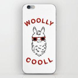 Woolly Cooll Cute Llama Pun iPhone Skin