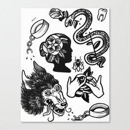 flash sheet Canvas Print