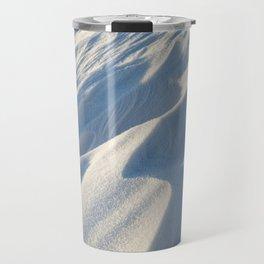 Snowdrifts, a field in winter Travel Mug