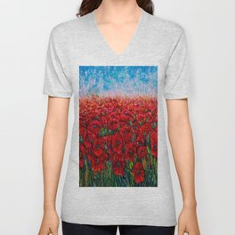 Field Of Happiness   Unisex V-Neck