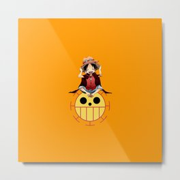 luffy haki Metal Print