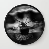 northern lights Wall Clocks featuring Northern Lights by Hamish Marr