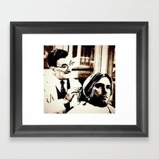 Kurt & Floyd     Grunge Collage Framed Art Print