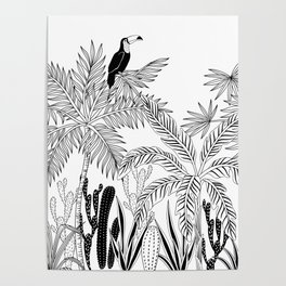 Toucan in the jungle. Poster