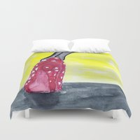 shoe Duvet Covers featuring shoe heels by Isabel Sobregrau