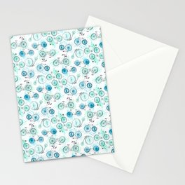 Bikes Pattern Stationery Cards
