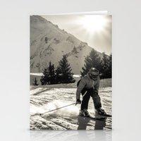 ski Stationery Cards featuring ski by Sébastien BOUVIER