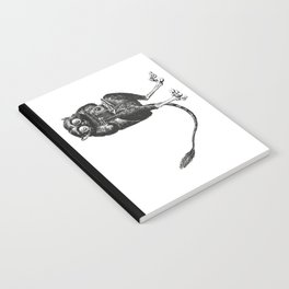 Say Cheese! | Tarsier with Vintage Camera | Black and White Notebook