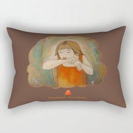 Hmmm... Rectangular Pillow