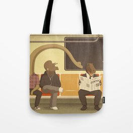 Dino Subway Tote Bag