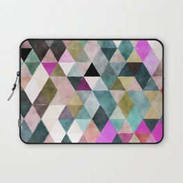 Abstract colorful watercolor geometrical triangles Laptop Sleeve