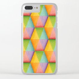 Rainbow Facets Clear iPhone Case