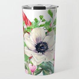 Gentille watercolor handpainted clipart, floral, flower, design, stylish, wedding, invitation Travel Mug