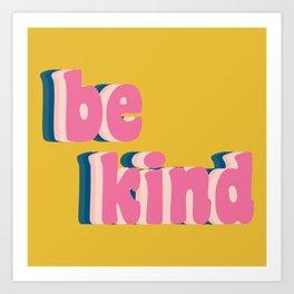 Be Kind Inspirational Anti-Bullying Typography Art Print