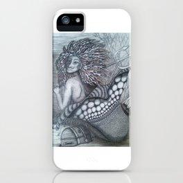 Guardian mermaid iPhone Case