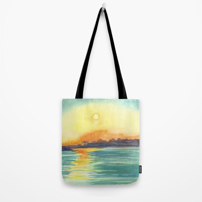 Cresent Bay Sunset Tote Bag