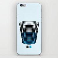 half life iPhone & iPod Skins featuring Half Full by creaziz