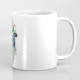 Flowers colorful heart watercolor Coffee Mug