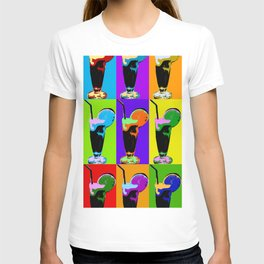 Poster with orange coctail in pop art style T-shirt