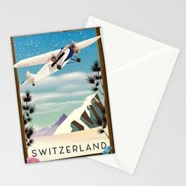 Switzerland travel poster Stationery Cards