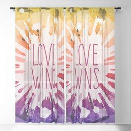 Love Explosion - Love Wins Pop-Art Sheer Curtain