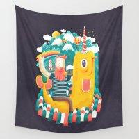 unicorn Wall Tapestries featuring Unicorn by Seaside Spirit