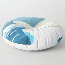 Polar bears,Glaciers,Northern Lights,Cold,Snow Floor Pillow