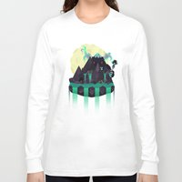 titan Long Sleeve T-shirts featuring Moonlit Titan by badOdds