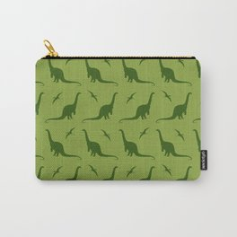 Brontosaurus and Pterodactyls on Green Carry-All Pouch