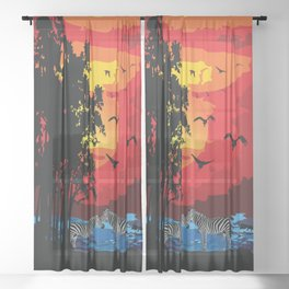 Safari Sheer Curtain
