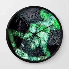 Oriental beautie - green Wall Clock