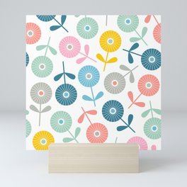 SPRING DITSY with TRUE WHITE Background Mini Art Print