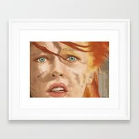 fifth element Framed Art Prints featuring The Fifth Element by WhiteeChess