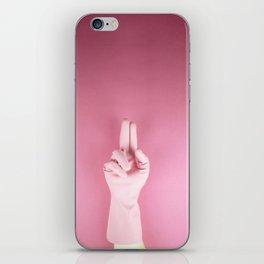 Mighty pink glove iPhone Skin