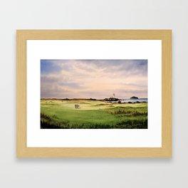 Turnberry Golf Course 12th Hole Framed Art Print