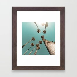 {1 of 2} Palm Trees = Happy // Teal Summer Sky Framed Art Print
