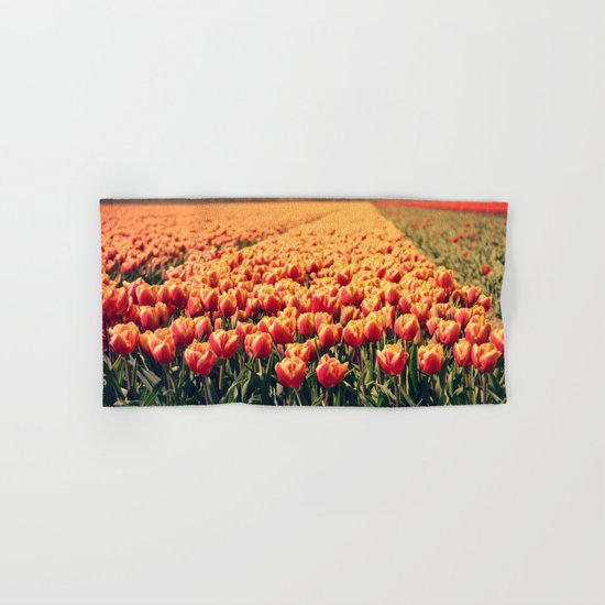 Tulips field #6 Hand & Bath Towel