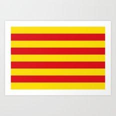 Catalan Flag - Senyera - Authentic High Quality Art Print