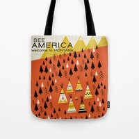 montana Tote Bags featuring Montana by Design for Obama