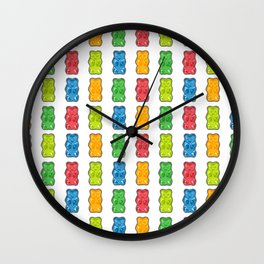 Rainbow Gummy Bears Wall Clock