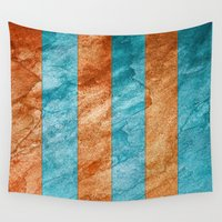 striped Wall Tapestries featuring Striped Stone by Robin Curtiss