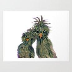 DODO LOVE BIRDS 2 Art Print