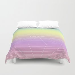 Love & Exist - 3D Wireframe Emo Plane of Existence Design Duvet Cover