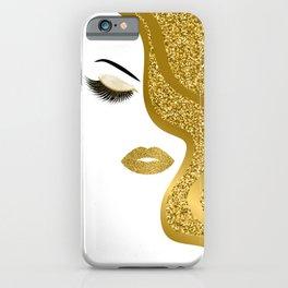 Gold gitte woman iPhone Case