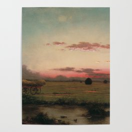 The Marshes At Rhode Island 1866 By Martin Johnson Heade | Reproduction Poster
